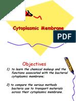 Cytoplasmic Membrane of Prokaryotes