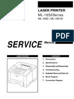 Samsung Ml-1650 Service Manual