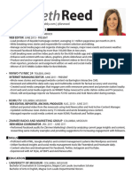 Elizabeth Reed Digital Journalist Resume