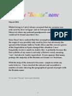 the bentata name