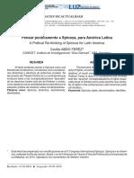 Pensar Politicamente a Spinoza Para America Latina