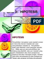 BAB 3 Hipotesis, Bina & Ralat