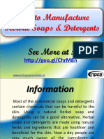 How to Manufacture Herbal Soaps & Detergents