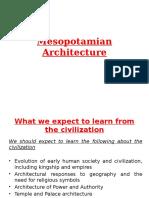 Mesopotamia Architecture A