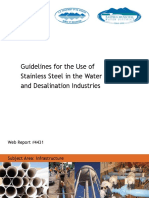 Guidelines for the Use of Stainless Steel in the Water and Desalination Industries