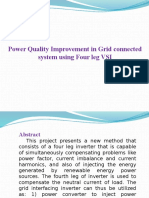 Power Quality Improvement in Grid Connected..