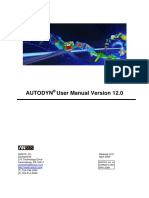 Autodyn user manual