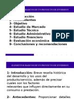 Elementos Basicos de Un Proyecto de Inversion