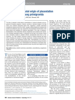Perinatal Origin of Placentation Disorder