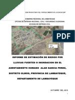 Informe Estimación de Riesgo c.p Alan Garcia