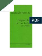 Reynaldo Pérez Só - Fragmentos de un Taller. Ars poetica