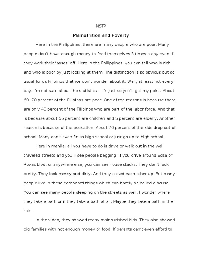 The American Scholar Essay Essay On Malnutrition Insights Mindmaps Malnutrition In And Nstp Reaction  Malnutrition Food Inc Essay also Frankenstein Analysis Essay Essay On Malnutrition Assessing The Nutritional Status Of Primary  The Pit And The Pendulum Essay