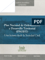 Plan Nacional de Ordenamiento y Desarrol