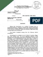 ERC Case No. 2005-100CC_Samoy vs Meralco