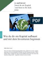 Save & Invest Von Silvan Mundorf
