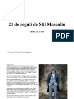 21 de Reguli de Stil Masculin