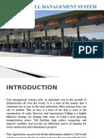Toll Management System Design Presentation