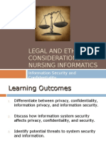 Legal and ethical considerations in nursing informatics