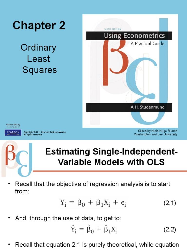Studenmund_Ch02_v2   Ordinary Least Squares   Coefficient Of Determination