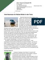 Viele Bestnoten für Nokian-Reifen in den Tests