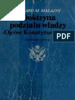 Małajny Ryszard Mariusz - Doktryna podziału władzy Ojców Konstytucji USA (1985)