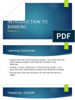 Session 1 - Introduction to Banking