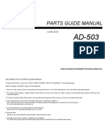 Parts Guide Manual - Ad-503
