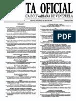 Sumario Gaceta Oficial 39.407