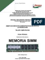 Análisis de Objeto Técnico La MEMORIA SIMM
