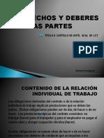 8.- Derecho y Deberes de Las Partes