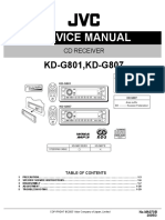 JVC KD-G801 Car Stereo System User Manual