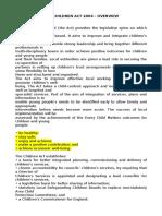 Law Children Act 2004 Summary 1 1