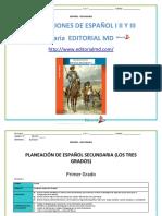 Planeaciones de Español Secundaria 1
