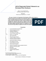 Combustion Model Of Supersonic Rocket Exhausts in an Entrained Flow Enclosure