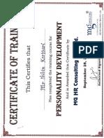 Personality Development Certificates
