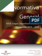 Normativa General futbolsala catolico  15-16