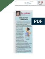 Prevenir la lumbalgia en el embarazo