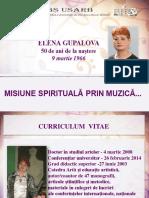 Elena Gupalova la 50 de ani