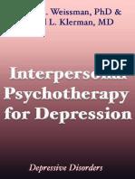 Interpersonal Psychotherapy for Depression - Myrna m Weissman Phd