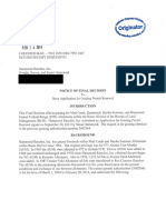 2-14-14 - HAMMOND RANCHES INC - Notice of Final Decision to Deny Application for Grazing Permit Renewal