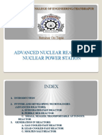 Advanced Nuclear Reactor in Nuclear Power Station