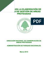 Guia Para La Elaboracicon de Planes de Gestion en Areas Protegidas
