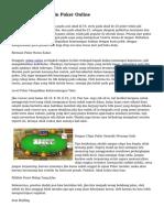 Trik Di Belajar Main Poker Online