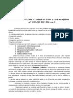 1Raport Comisia Dirigintilor I