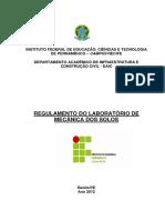 REGULAMENTO DO LABORATÓRIO DE MECÂNICA DE SOLOS.pdf