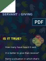 2016 - s2 - sv - week 6 - servant giving