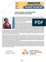 OHCHR Madagascar Newsletter 5th Edition - December 2015