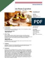 Vegane Moehren Nuss Cupcakes