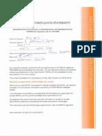 Reach Svhc Compliance Statement 2016