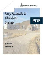 Manejo Responsable de Hidrocarburos Residuales